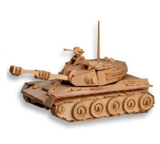 Tank Model 3D Wooden Puzzle Children and Adult's Educational Building Blocks Puzzle Toy