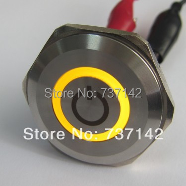 ELEWIND 30mm metal push button on/off symbol(PM301F-11ZE/Y/12V/S With on/off symbol) bqlzr dc12 24v black push button switch with connector wire s ot on off fog led light for toyota old style