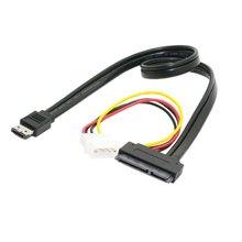 приспособление esatap питания eSATA Комбо для SATA 22pin & с IDE 4-контактный 12В 5В для 2.5 3.5 жесткий диск кабель для передачи данных 50 см