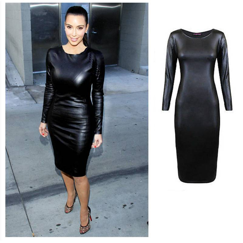 2018 Black Leather Sexy Body Suits for Women PVC Erotic Leotard Costumes Latex Bodysuit Catsuit Girls Wet Look Mini Dress