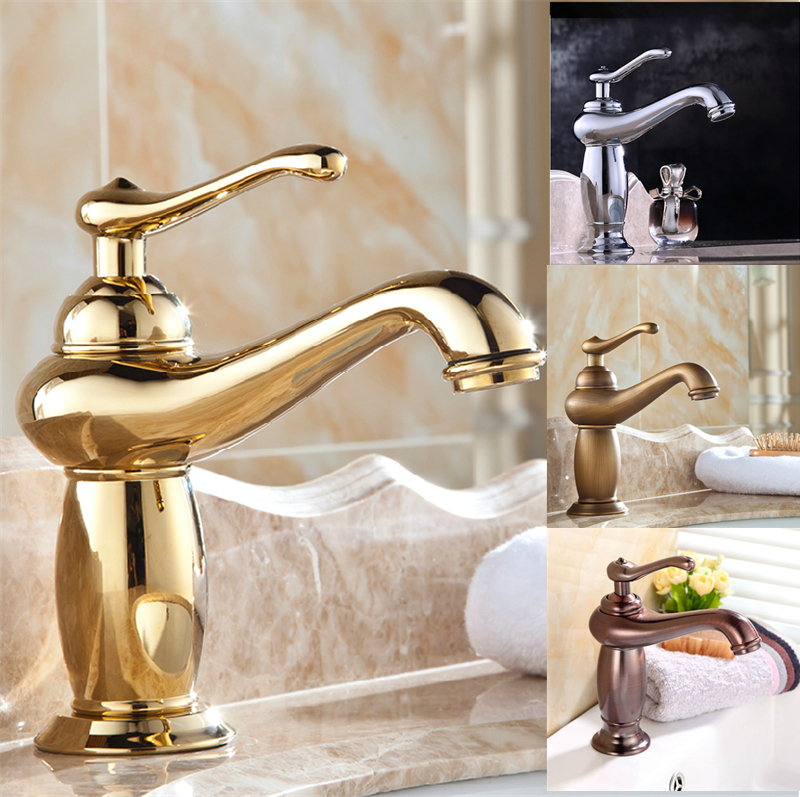 Free Shipping Lamp Design Modern Bathroom Faucet Brass Chrome Faucets Gold Faucet  Bathroom Antique Faucets,