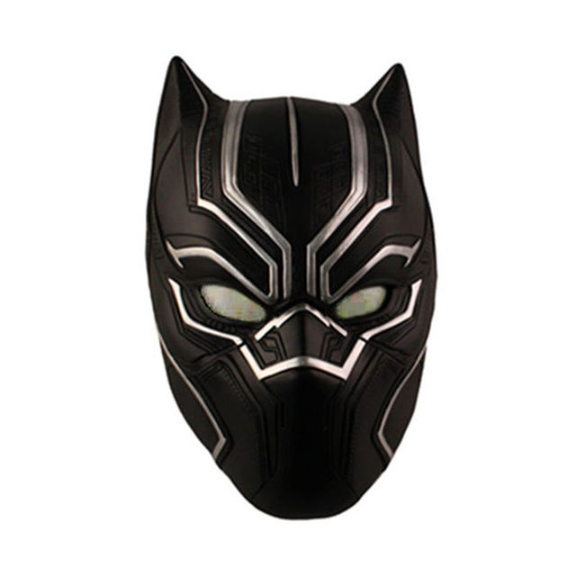 Captain America 3 Black Panther Mask PVC Cosplay Toy
