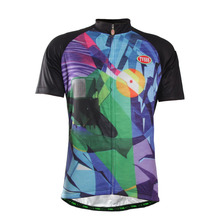TVSSS Men's Professional Summer Cycling Jersey Colorful Abstract Printing Black Bike Jersey Sports Clothes Cycle Shirt