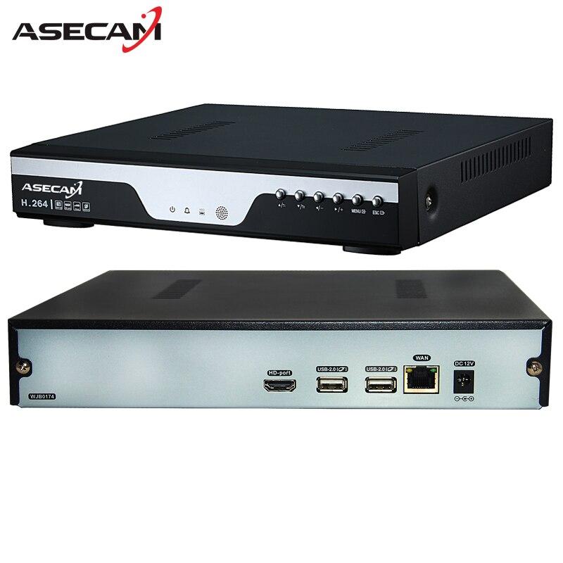 Super 8CH H.265 NVR Enregistreur Vidéo 4MP 5MP 1080 P Numérique 8 Canaux CCTV Onvif Réseau de Sécurité Caméra IP p2p