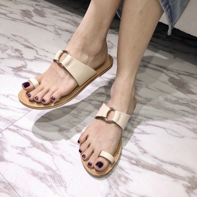 39bb1bafb06ae Summer Sandals Cork Slippers Flat Flip Flop Thongs Shoes Woman Unisex  Slipper Beach Patchwork Rome Students Style Sandals 3736