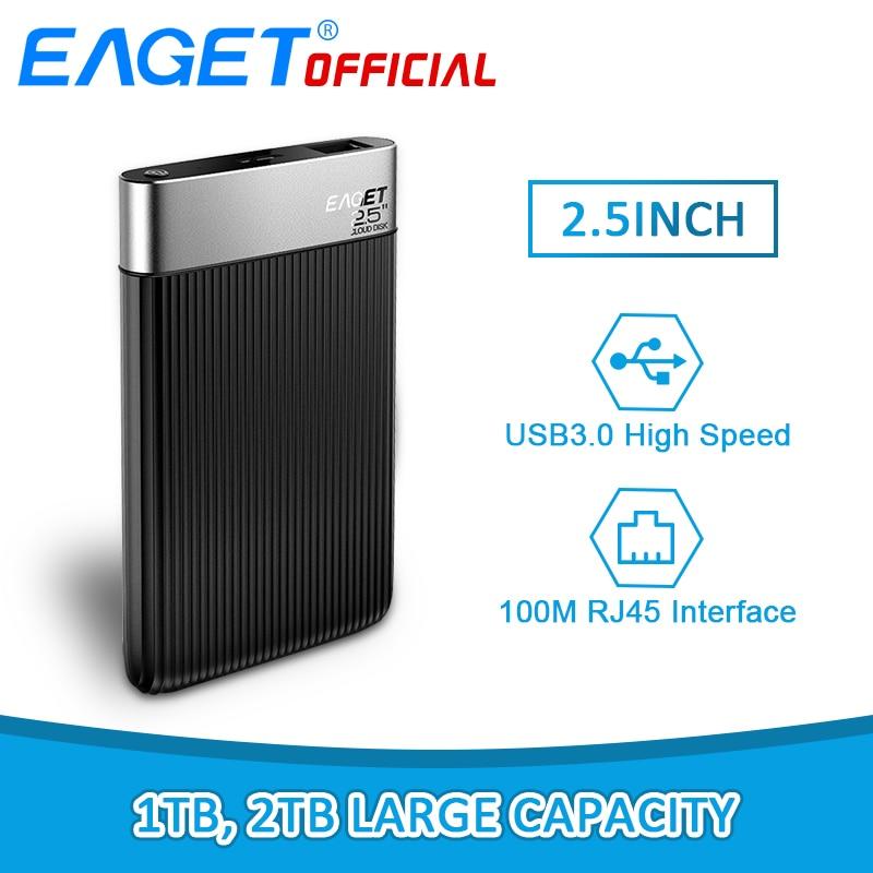 EAGET Y200 2.5 Pouces 1 tb/2 tb SATA USB3.0 Smart Mobile Disques Durs Cryptage de Sécurité Externe Hdd Réseau nuage Disque Pour Ordinateur