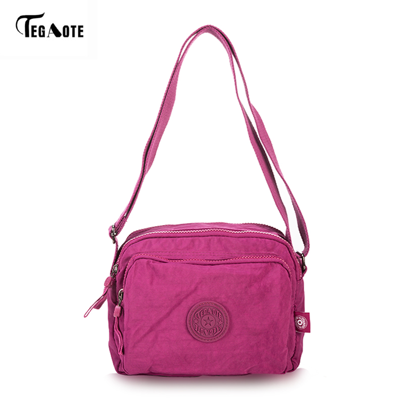 TEGAOTE Durable Women Messenger Bags Light Shopping Travel Shoulder Bags Nylon Waterproof Crossbody Casual Bag for School women handbag shoulder bag messenger bag casual colorful canvas crossbody bags for girl student waterproof nylon laptop tote