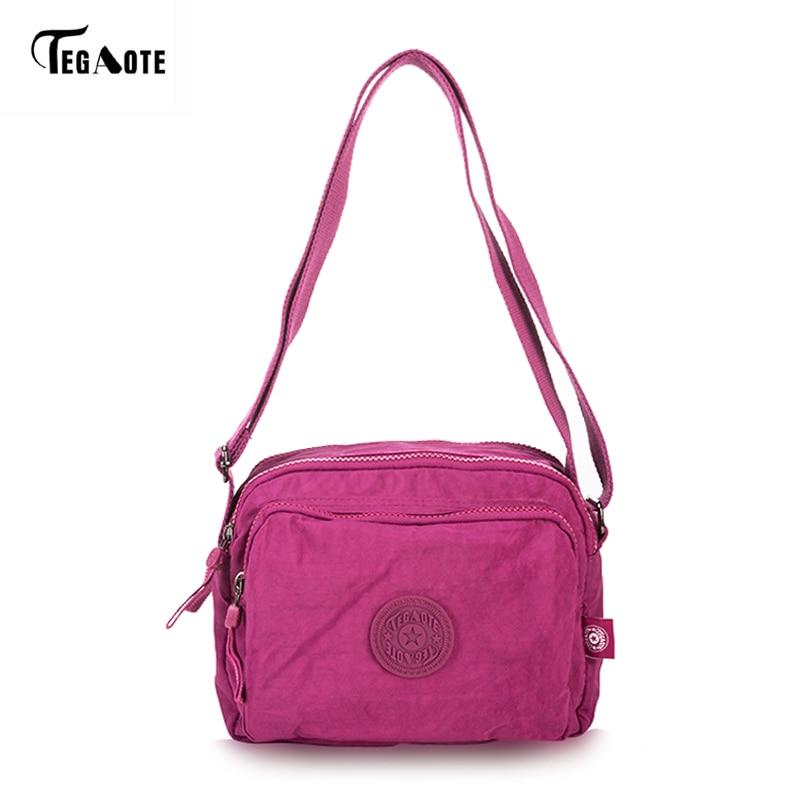Women Messenger Travel Shoulder Bags Nylon Waterproof Crossbody Bag for School