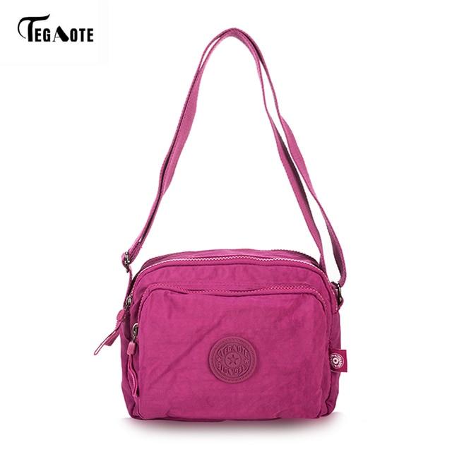 TEGAOTE Durable Women Messenger Bags Light Shopping Travel Shoulder Bags  Nylon Waterproof Crossbody Casual Bag for School 09d5d5ca3c708