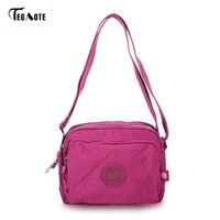 Tegaote прочный Для женщин Курьерские сумки свет торговый путешествия Сумки на плечо нейлон Водонепроницаемый Crossbody Повседневное сумка для шк...
