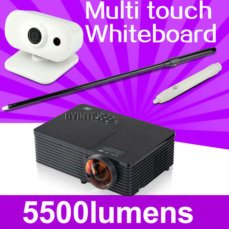 interactive whiteboard Short Throw Daylight 5500ANSI USB HDMI Support 1080p full HD multimedia 3D DLP Projector Proyector beamer new short throw 300inch dlp hologram 3d projector hd pc usb vga daylight 1080p rear video beamer lamp for education school