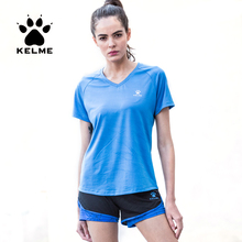 Running T-Shirts KELME Short-Sleeve Quick-Dry Sports Women Outdoor Yoga for Female KWC161024