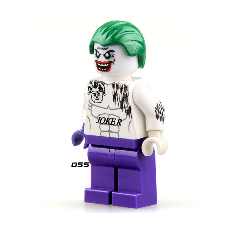 Single Sale Super Heroes Suicide Squad Clown Joker 055 Model Mini Building Block Figure Brick Toy Gift Compatible Legoed Ninjaed