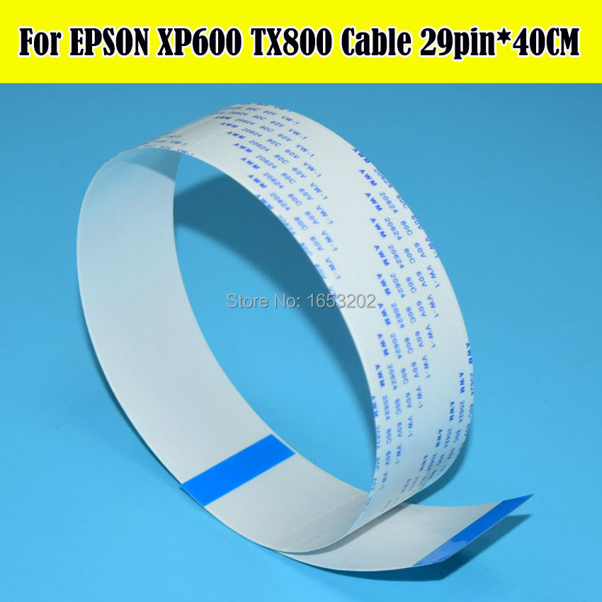где купить 2 PCS/Lot F192040 Print head Cable Date Printhead Cable For EPSON Machine XP600 TX800 XP701 XP700 XP800 XP801 XP721 XP821 XP702 по лучшей цене