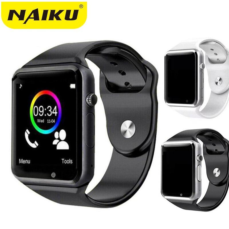 A1 Bluetooth Inteligente Relógio relógio de pulso Dos Homens Do Esporte Pedômetro Com Câmera SIM Smartwatch Para Android Smartphones Rússia T15 boa thanY1
