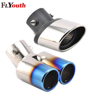 Double Muffler For KIA Sportage R SportageR 2013 2018 Stainless Steel Automobiles Car Exhaust Muffler Tip pipe Car Styling 1Pc