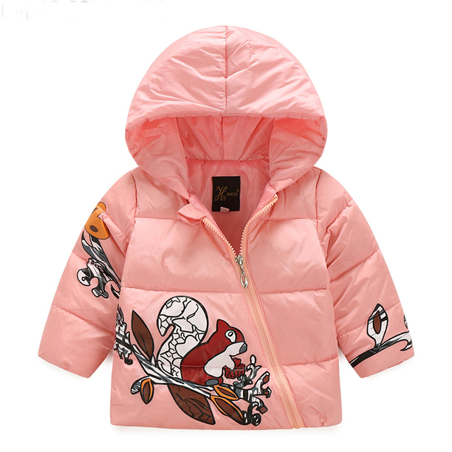 Winter Jacket For Girls100%White Duck Down Wind-proof Fashion Kids Clothes 2016 Kids Jacket Outerwear Down Coat Winter Coat Girl