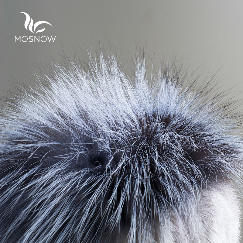 New 2019 Real Mink Fur Woman Winter Hats Silver Fox Pompons Stripe - Apparel Accessories - Photo 6