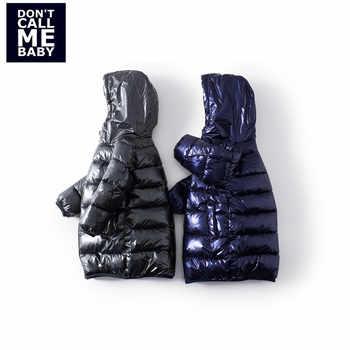 Mayas Blue Bling Bling Fashion Kids Winter Parkas Boys New Warm Zipper Thickening Coats Children Street Basic Jacket 81230 - DISCOUNT ITEM  50% OFF All Category
