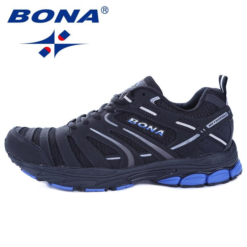BONA nouveauté Hot Style hommes chaussures de course en plein air marche Trekking chaussures de sport confortables léger livraison gratuite - 3