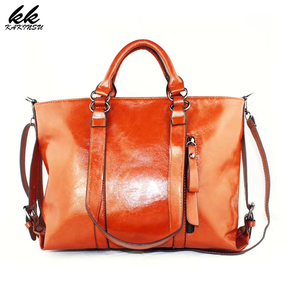 Genuine Leather Fashion Bags Tote Leather Handbags Women Messenger Bags Luxury Brands High Quality Women s