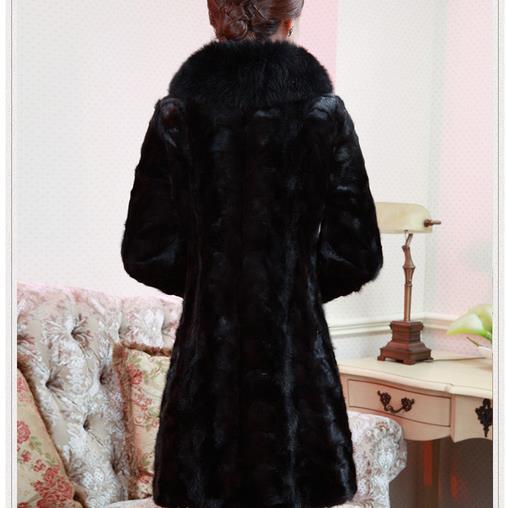Wr607 Épaissir Furry En 2018 Dames Femmes Manches Longues Manteau Longue Fourrure D'hiver Mori Fausse Élégant Manteaux Long F0Oaw