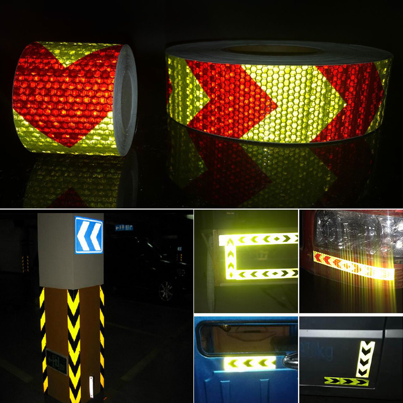 Купить с кэшбэком 5cmx25m  Reflective Safety Stickers Night Driving Waterproof Wide Reflective Stickers Warning Tape Bicycle Accessories