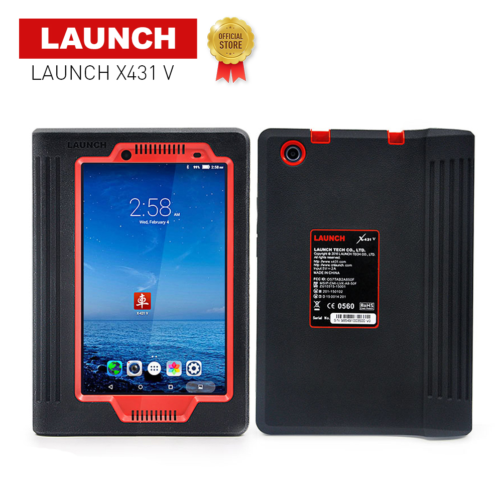 LAUNCH Official X431 V 8inch Wifi/Bluetooth Car Diagnosis-tool Full System X-431 V Scanner Support Multi-Language Online Update