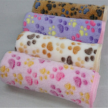 Pet-Blanket Cover-Mat Cats-Supplies Dogs Warm Small Sleeping-Beds Coral Fleece Soft Paw