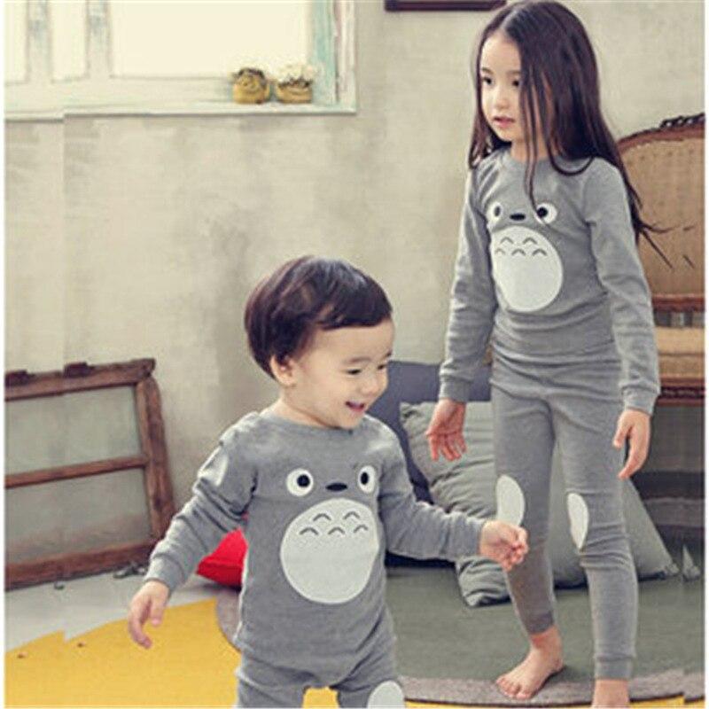 2Pcs set Kids Pijamas Infantil Childrens Warm Underwear Baby Boys Girls  Pajamas Sets Winter Cartoon Clothes Sleepwear CC278 99de7b420