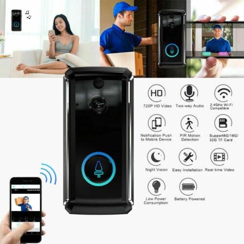 Беспроводной умный WiFi дверной звонок ИК телефон дистанционный дверной Звонок камера безопасности домофон