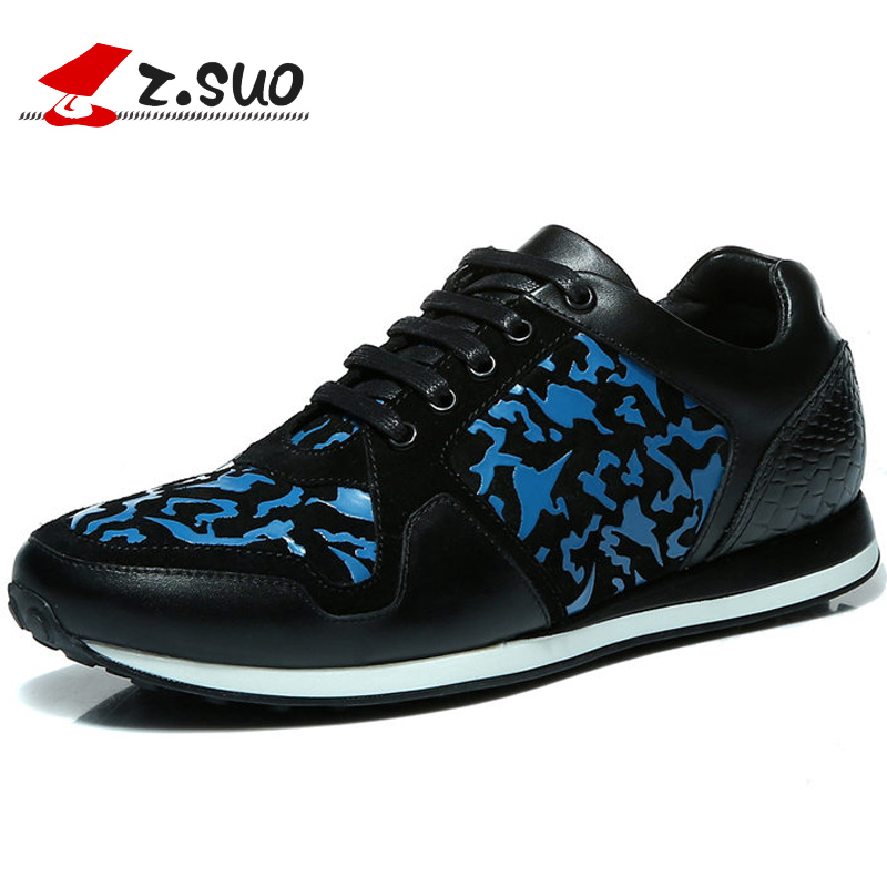 Zsuo spring and autum leather outdoor shoes male low casual male fashion shoes ZS3502 free shipping