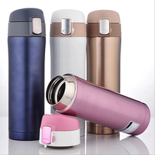 304 Stainless Steel 500ml Thermos Cup Thermal Bottle Drink Water Vacuum Flasks Drinkware Insulated Mug Solid color