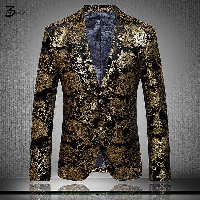 XMY3DWX S-4XL мода высокого класса тонкий мужчины бизнес КУРТКИ/Мужской печати высокого качества вскользь куртка/мода досуга пальто костюм