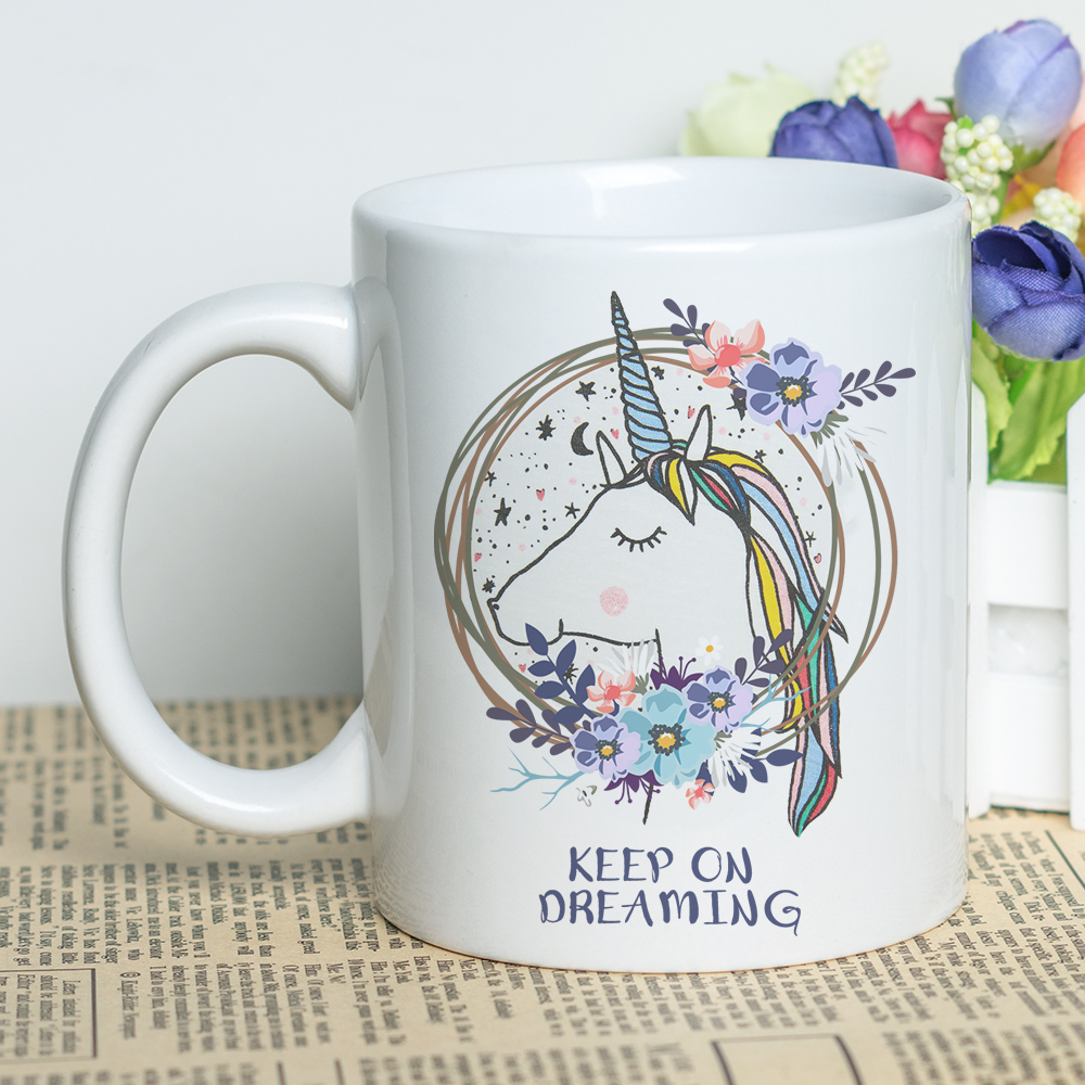 Putih Keramik Sublimasi Mug 11 Oz Fashion Gadis Desain Cetak