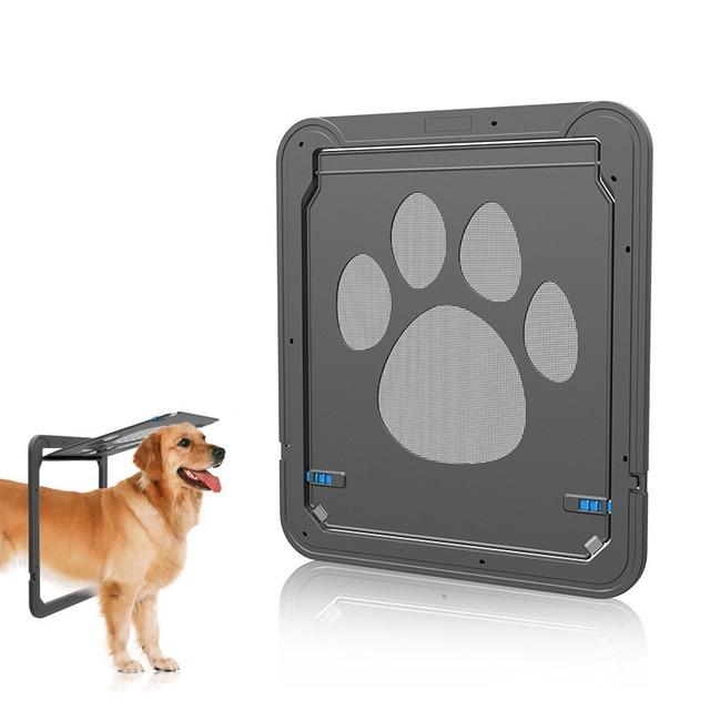 Lockable Cat Flap Pet Door Automatic Dog Cat Door Magnetic Screen Door ABS  Locking Safe Pet