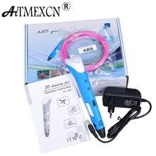 Aitmexcn 3D Printer Pen Drawing 3D Printing Pen Model With 3 Color ABS 1.75mm Filament Arts DIY Drawing Magic 3D Printer Pen