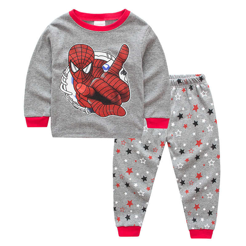 85eb9151aa Kids Pajamas Sets boys Spider-Man pattern night suit Children cartoon Sleepwear  Girls Pyjamas kids