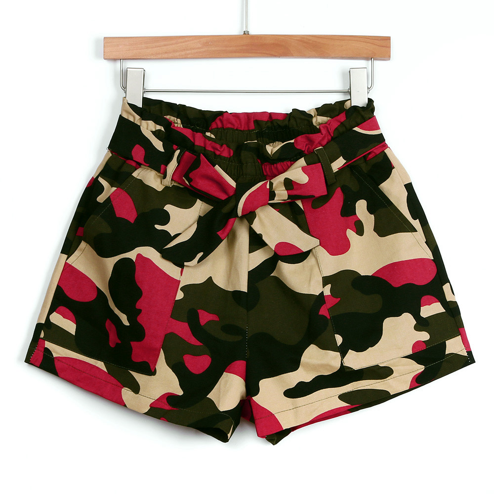 Women shorts summer camouflage loose hot lady summer beach trousers pantaloncini donna harajuku