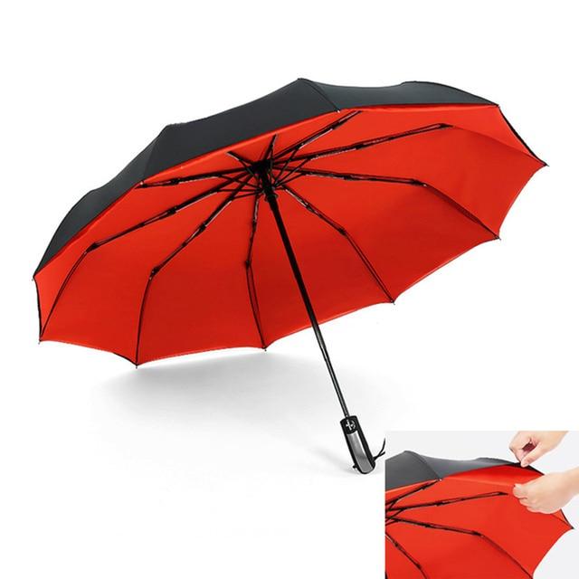 aedc51b36c18d 2019 Big Business Umbrellas Rain Women Man Full-Automatic Parasol 10 Ribs  Man Folding Umbrella Male Big Paraguas Plegable