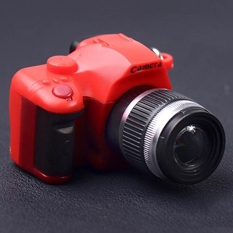 LED Luminous Sound Glowing Pendant Keychain Toy Plastic Toy Camera Shape Kids Digital Camera Spielzeug