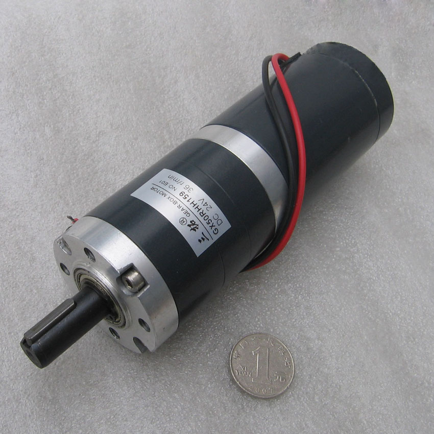 GX50RHH Dia=50mm 12V 24V Low Speed DC Planetary Reduction Geared DC Brushed Motor With Gear Box цена