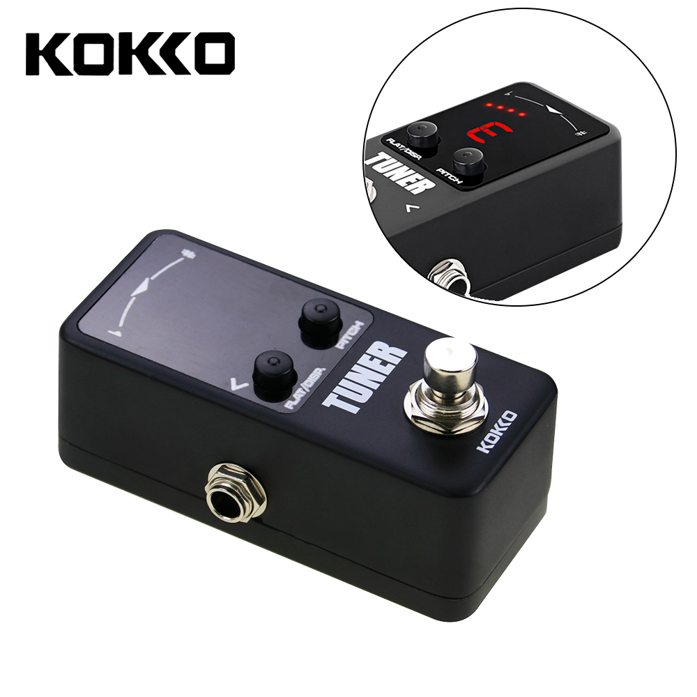 KOKKO Mini Pedal LED Screen Tuner Guitar Effect Pedals For Music Instruments Guitar Parts Accessories