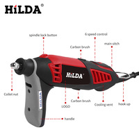 Plug in High power electric grinding Hilda 350w electric grinding hardware tools Multi function Integrated machine