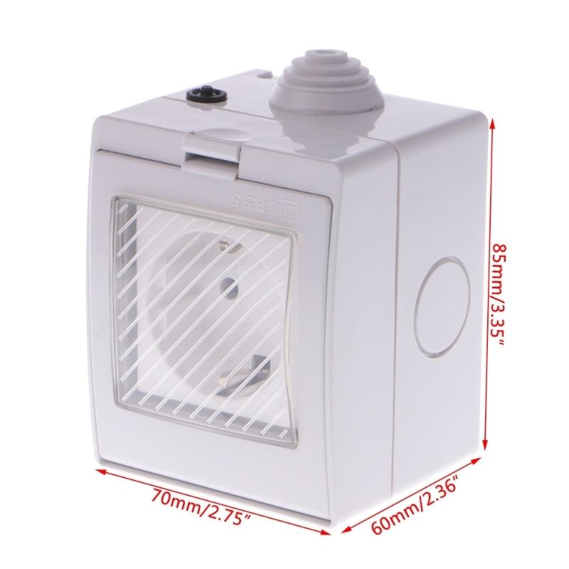 купить OOTDTY Wireless Smart WIFI Plug Socket Switch IP55 Waterproof Home Remote Control Timer US/EU/UK Plug по цене 1135.56 рублей