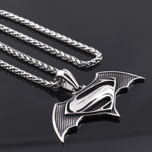 """316L Stainless steel necklace Superman with bats, film and television """"S superman superman logo accessories wholesale"""