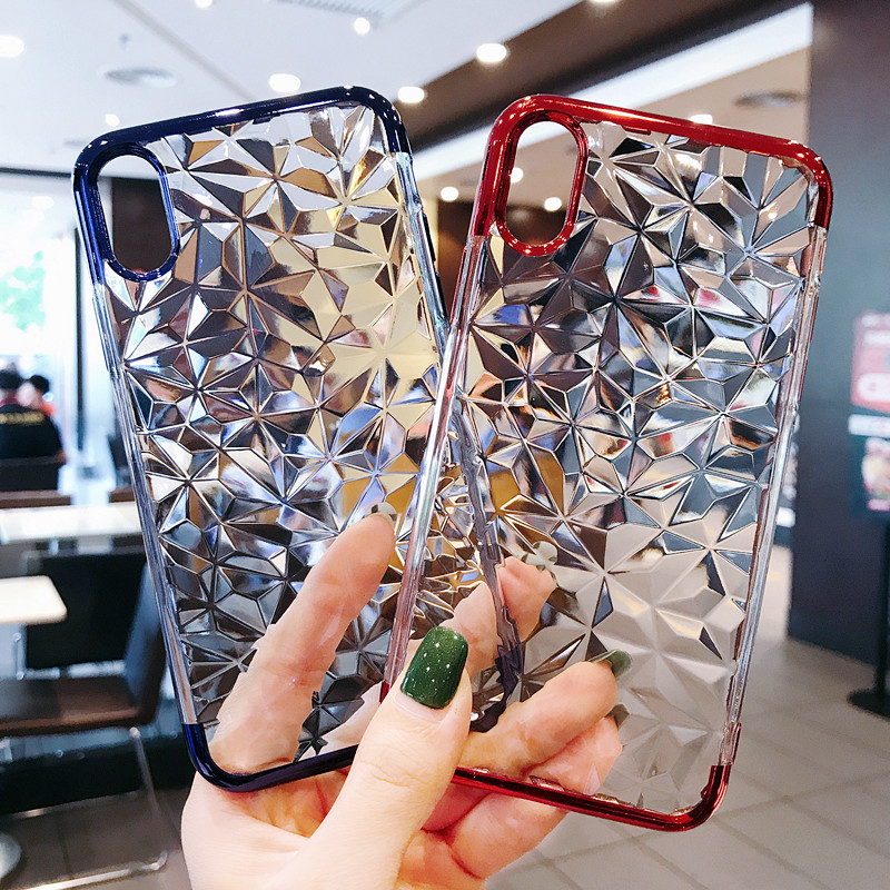 3D Diamond Plating Iphone 6 6S 7 8 Plus X Silicone Cover Cqoue For Samsung Galaxy S8 S9 Plus Note 8 9 Cases