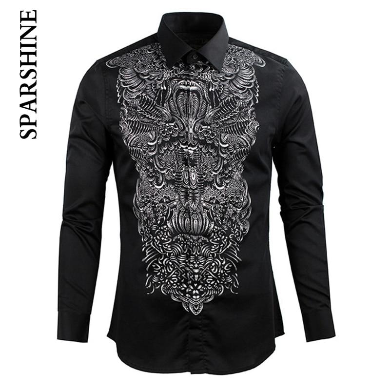 New Men Shirt Chemise Homme 2016 Mens Night Club Fashion Shinny Dress Shirts Casual Long Sleeve Shirt Men