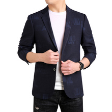 MarKyi good quality floral print men blazers and jackets 2019 autumn mens slim fit suit jacket