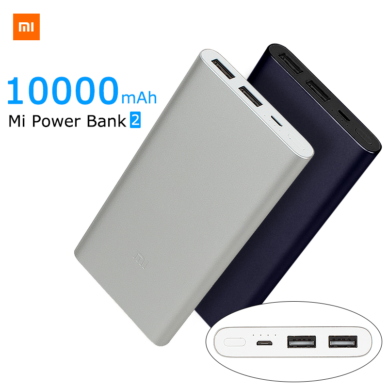 Original xiaomi Power bank 2 Mi 10000mAh Quick Charge Powerbank